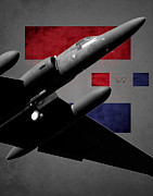 U2 Art - U-2 Dragon Lady Flag Spirit by Reggie Saunders