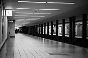 Bahn Prints - u-bahn platform and station Berlin Germany Print by Joe Fox