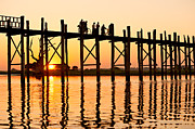 Rangoon Art - U bein bridge - Myanmar by Luciano Mortula