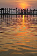 Architektur Photo Originals - U BEIN BRIDGE in Mandalay by Juergen Ritterbach
