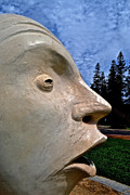 Campus Sculptures Prints - U C Davis Egghead 3 Print by Bill Owen