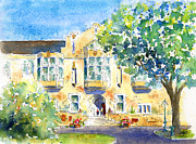 Streetscape Paintings - U of S College Building by Pat Katz