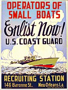 """war Poster"" Digital Art Framed Prints - U S Coast Guard Poster 1941 Framed Print by Audreen Gieger-Hawkins"