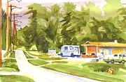 Ironton Painting Originals - U S Mail Delivery by Kip DeVore
