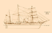 Sailing Ship Posters - U. S. Revenue Cutter Bear Poster by Jerry McElroy