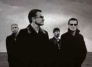 Rock Star Painting Prints - U2 Print by Paul  Meijering