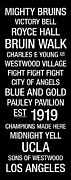 Fight Prints - UCLA College Town Wall Art Print by Replay Photos