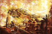 National Painting Posters - Udaipur Kambalgarh Fort Poster by Catf