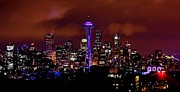 Seattle Skyline Art - UDub Skyline by Benjamin Yeager