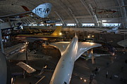 Flying Framed Prints - Udvar-Hazy Center - Smithsonian National Air And Space Museum annex - 1212104 Framed Print by DC Photographer