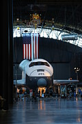 Helicopters Prints - Udvar-Hazy Center - Smithsonian National Air And Space Museum annex - 121255 Print by DC Photographer