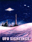 American Drawings - Ufo Sightings - Alien Space Poster by Peter Art Print Gallery  - Paintings Photos Posters