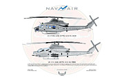Upgrade Framed Prints - Uh-1y Ah-1z Navair Framed Print by Arthur Eggers