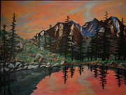 Amazing Sunset Paintings - Uinta MT by Christopher Carter