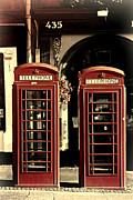Twosome Prints - Uk Phone Box Print by Craig Brown