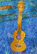 """klimt Style"" Digital Art - Uke in blue bubbles by Stefania Vignotto"