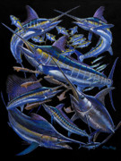 Black Marlin Framed Prints - Ultimate Goal Off00128 Framed Print by Carey Chen