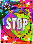 Impact Mixed Media Metal Prints - Ultimate Stop sign Metal Print by David Rogers