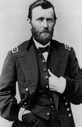 Military Photo Framed Prints - Ulysses S Grant Framed Print by American School