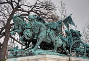 Artillery Metal Prints - Ulysses S. Grant Memorial - Artillery Statue  Metal Print by Gary Whitton