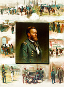 General Ulysses Grant Framed Prints - Ulysses S Grant Framed Print by Thure de Thulstrup