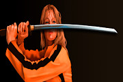 Kill Bill Prints - Uma in Kill Bill Print by Stephen Conroy