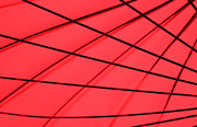 Red And Black Prints - Umbrella Abstract Print by Tony Grider