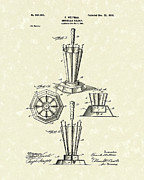 Umbrella Drawings Framed Prints - Umbrella Holder 1900 Patent Art Framed Print by Prior Art Design
