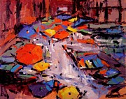 R W Goetting - Umbrellas and boats in...