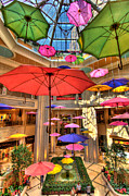 Umbrella Metal Prints - Umbrellas at Palazzo Shops Metal Print by Amy Cicconi