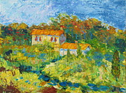 Impressionistic Landscape Paintings - Umbrian Farmhouse by Rob White