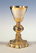 Jewellery Prints - Umbrian-senese Work, Chalice, 15th Print by Everett