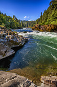Umpqua River Framed Prints - Umpqua River Framed Print by David Millenheft