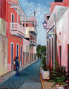 San Juan Paintings - Un Domingo en San Juan by Alfredo Ocasio