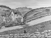 Country Scenes Drawings - Un pomeriggio destate by Loredana Messina