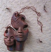Art Sculptures Original Reliefs - UN Raveled? by Tomi LaPierre