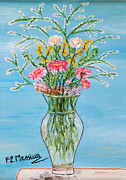 Vase Of Flowers Posters - Un segno Poster by Loredana Messina