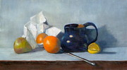 Pottery Pitcher Painting Prints - Un-Wrapped Print by Elizabeth B Tucker