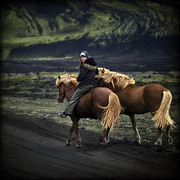 Horseback Photos - Unable To Stay. Unwilling To Leave. by Evelina Kremsdorf