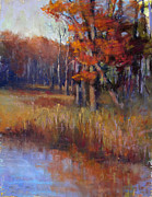 Montgomery Pastels Prints - Unami Autumn Print by Susan Williamson