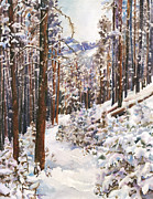Snowscape Painting Posters - Unbroken Snow Poster by Anne Gifford