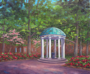 Graduation Gift Framed Prints - UNC Old Well in Spring Bloom Framed Print by Jeff Pittman