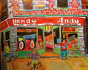 Litvack Paintings - Uncle Daveys Handy Andy by Michael Litvack