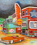 Texaco Sign Paintings - Uncle Nuttys St. Agathe 1960s by Michael Litvack