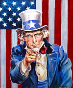 Looking At Viewer Posters - Uncle Sam Poster by Jan Mecklenburg