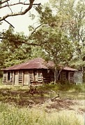 Log Cabin Photographs Framed Prints - Uncle Toms Cabin Brookhaven Mississippi Framed Print by Michael Hoard