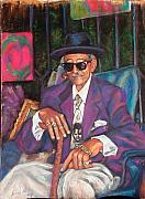 New Orleans Pastels Prints - Uncle With Time on His Hands Print by Beverly Boulet