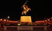 Doak Campbell Stadium Prints - Unconquered at Williams Plaza on Langford Green Print by Frank Feliciano