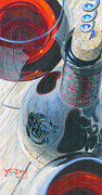 Wine Glass Paintings - Uncorked by Will Enns