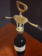 Cork Screw Paintings - Uncorking by Marion Derrett